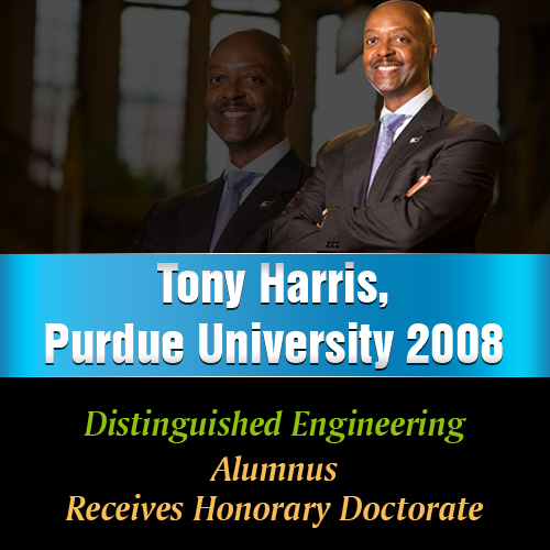 Tony Harris, Purdue University 2008 Distinguished Engineering Alumnus, Receives Honorary Doctorate